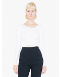8379W American Apparel Ladies' Cotton Spandex Long-Sleeve Crop Top