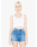 8384W American Apparel Ladies' Cotton Spandex Crop Tank