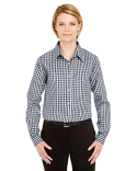 8385L UltraClub Ladies' Medium-Check Woven