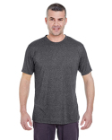 8619 UltraClub Men's Cool & Dry Heathered Performance T-Shirt