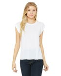 8804 Bella + Canvas Ladies' Flowy Muscle T-Shirt with Rolled Cuff