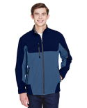 88156 North End Men's Compass Colorblock Three-Layer Fleece Bonded Soft Shell Jacket