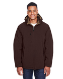 88159 North End Men's Glacier Insulated Three-Layer Fleece Bonded Soft Shell Jacket with Detachable Hood