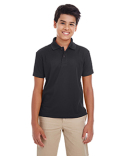 88181Y Ash City - Core 365 Youth Origin Performance Piqué Polo