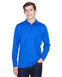 88192P Ash City - Core 365 Adult Pinnacle Performance Long-Sleeve Piqué Polo with Pocket