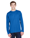 88199 Ash City - Core 365 Men's Agility Performance Long-Sleeve Piqué Crewneck