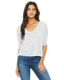 8825 Bella + Canvas Ladies' Flowy Boxy Half-Sleeve V-Neck T-Shirt