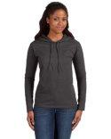 887L Anvil Ladies' Lightweight Long-Sleeve Hooded T-Shirt