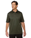 88803 North End Men's Exhilarate Coffee Charcoal Performance Polo with Back Pocket