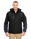 8939 UltraClub Adult Colorblock 3-in-1 Systems Hooded Jacket