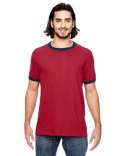 988AN Anvil Adult Lightweight Ringer T-Shirt