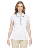 A126 adidas Golf Ladies' Piped Polo