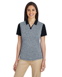 A146 adidas Golf Ladies' Heather Block Polo