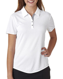 A222 adidas Golf Ladies' climacool Mesh Color Hit Polo