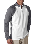 A276 adidas Golf Men's climawarm™+ 3-Stripes Colorblock Quarter-Zip Training Top