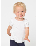 AM4000W American Apparel Infant Baby Rib Short-Sleeve Lap T-Shirt