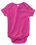 B100 Bella + Canvas Infant Short-Sleeve Baby Rib One-Piece