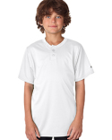 B2930 Badger Youth Two-Button Performance Henley