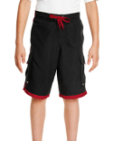 B4401 Burnside Youth Striped Swim Shorts