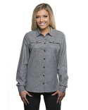 B5200 Burnside Ladies' Solid Flannel Shirt