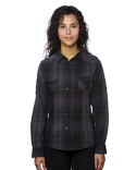 B5206 Burnside Ladies' Western Plaid Long-Sleeve Shirt