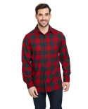 B8212 Burnside Woven Plaid Flannel With Biased Pocket
