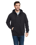 B8615 Burnside Men's  French Terry Full-Zip Hooded Sweatshirt
