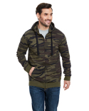 B8615 Burnside Adult Full-Zip Camo Hoodie