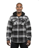B8620 Burnside Men's Hooded Flannel Jacket