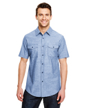 B9255 Burnside Mens Chambray Woven Shirt