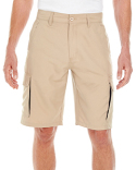 B9803 Burnside Men's Microfiber Cargo Short