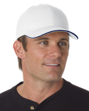 BA3621 Bayside Brushed Twill Structured Sandwich Cap