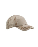 BA509 Big Accessories Contrast Thick Stitch Unstructured Cap