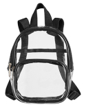 BE268 BAGedge Unisex Clear PVC Mini Backpack