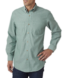 BP7004T Backpacker Men's Tall Yarn-Dyed Chambray Woven