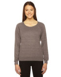 BR394 American Apparel Ladies' Triblend Lightweight Raglan Pullover
