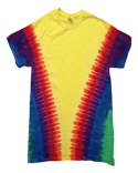 CD1140 Tie-Dye Adult Rainbow Pattern Tie-Dyed Tee