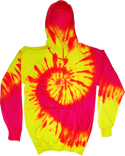 CD8700 Tie-Dye Adult Fluorescent Pullover Hoodie