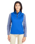 CE709W Ash City - Core 365 Ladies' Techno Lite Three-Layer Knit Tech-Shell Quarter-Zip Vest