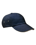 CT102 Adams 6-Panel Low-Profile Ultra Heavyweight Brushed Twill Sandwich Cap