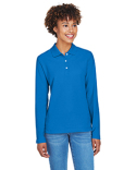 D110W Devon & Jones Ladies' Pima Piqué Long-Sleeve Polo