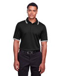 DG20C Devon & Jones Men's CrownLux Performance™ Plaited Tipped Polo