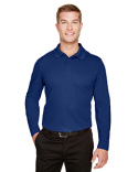 DG20L Devon & Jones CrownLux Performance™ Men's Plaited Long Sleeve Polo
