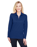 DG20LW Devon & Jones CrownLux Performance™ Ladies' Plaited Long Sleeve Polo