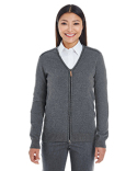 DG478W Devon & Jones Ladies' Manchester Fully-Fashioned Full-zip Sweater