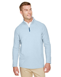 DG480 Devon & Jones CrownLux Performance™ Men's Clubhouse Micro-Stripe Quarter-Zip