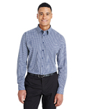 DG535 Devon & Jones CrownLux Performance™ Men's Tonal Mini Check Shirt