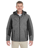 DG710 Devon & Jones Men's Midtown Insulated Fabric-block Jacket with Crosshatch Melange