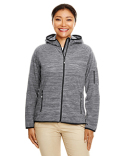 DP700W Devon & Jones Ladies' Perfect Fit™  Mélange Velvet Fleece Hooded Full-Zip