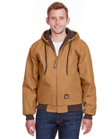 HJ51T Berne Men's Tall Highland Washed Cotton Duck Hooded Jacket